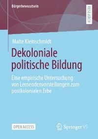 Cover Dekoloniale politische Bildung