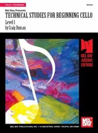 Cover Technical Studies for Beginning Cello, Level 1