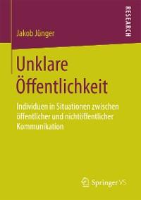 Cover Unklare Öffentlichkeit