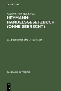 Cover Drittes Buch. §§ 238-342a
