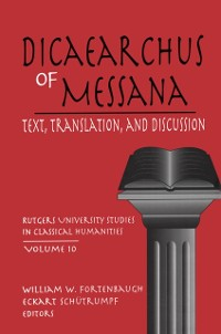Cover Dicaearchus of Messana