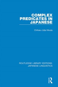 Cover Complex Predicates in Japanese
