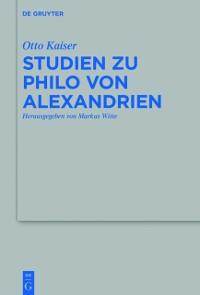 Cover Studien zu Philo von Alexandrien