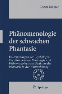 Cover Phänomenologie der schwachen Phantasie