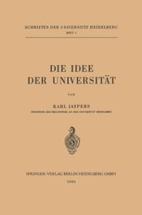 Cover Die Idee der Universitat