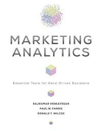 Cover Marketing Analytics