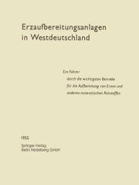 Cover Erzaufbereitungsanlagen in Westdeutschland