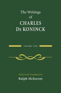 Cover Writings of Charles De Koninck