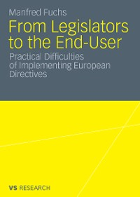 Cover From Legislators to the End-User