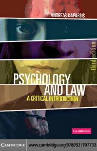 Cover Psychology and Law