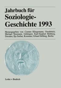 Cover Jahrbuch fur Soziologiegeschichte 1993