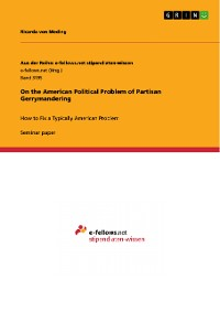 Cover On the American Political Problem of Partisan Gerrymandering