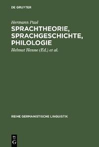Cover Sprachtheorie, Sprachgeschichte, Philologie