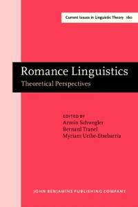 Cover Romance Linguistics