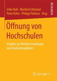 Cover Öffnung von Hochschulen