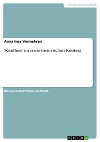 Cover 'Kindheit' im sozio-historischen Kontext