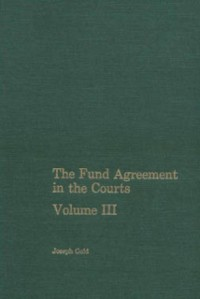 Cover Fund Agreement in the Courts, Vol. III