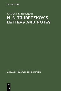 Cover N. S. Trubetzkoy's Letters and Notes