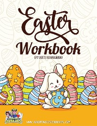 Cover Easter Activity Workbook For Kids 3-8! An Engaging Workbook for Learing!