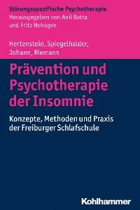 Cover Prävention und Psychotherapie der Insomnie