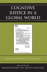Cover Cognitive Justice in a Global World