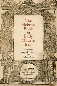 Cover The Hebrew Book in Early Modern Italy