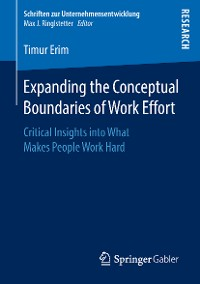 Cover Expanding the Conceptual Boundaries of Work Effort