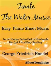 Cover Finale the Water Music Easy Piano Sheet Music