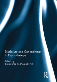 Cover Disclosure and Concealment in Psychotherapy