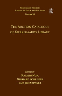 Cover Volume 20: The Auction Catalogue of Kierkegaard's Library