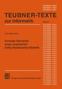Cover Formale Semantik eines erweiterten Entity-Relationship-Modells