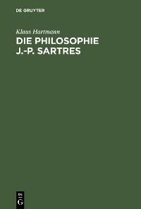 Cover Die Philosophie J.-P. Sartres