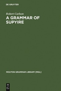 Cover A Grammar of Supyire