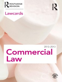 Cover Commercial Lawcards 2012-2013