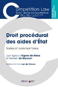 Cover Droit procédural des aides d'État