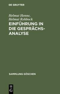 Cover Einführung in die Gesprächsanalyse