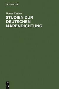 Cover Studien zur deutschen Märendichtung