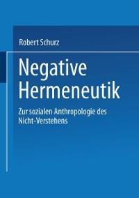 Cover Negative Hermeneutik
