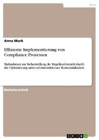 Cover Effiziente Implementierung von Compliance Prozessen