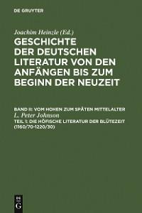 Cover Die höfische Literatur der Blütezeit