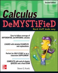 Cover Calculus DeMYSTiFieD, Second Edition