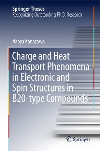 Cover Charge and Heat Transport Phenomena in Electronic and Spin Structures in B20-type Compounds