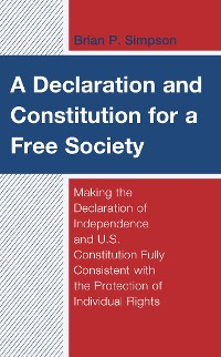 Cover A Declaration and Constitution for a Free Society