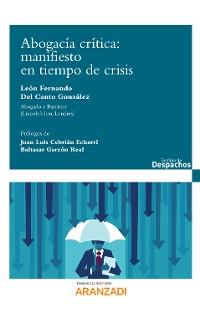 Cover Abogacía Crítica: manifiesto en tiempo de crisis
