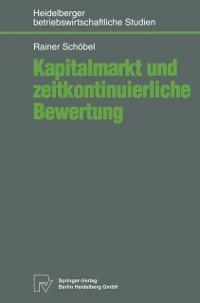 Cover Kapitalmarkt und zeitkontinuierliche Bewertung
