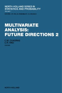Cover Multivariate Analysis: Future Directions 2