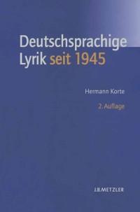 Cover Deutschsprachige Lyrik seit 1945
