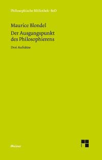 Cover Der Ausgangspunkt des Philosophierens