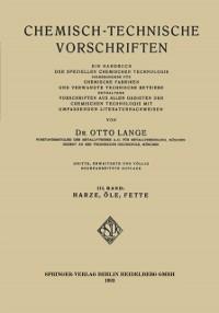Cover Chemisch-Technische Vorschriften