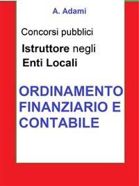 Cover Ordinamento finanziario e contabile - Concorso Istruttore Enti locali